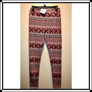 NWT Abby + Anna Pattered Leggings